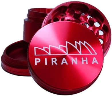"Tobacco Premium Grinder XL 3.0/"" Aluminum Piranha RED 4 Piece Herb"