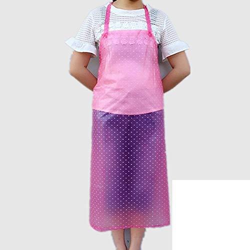 Eastery wasserdichte Schürzen PVC Dot Ärmellos Ölbeweis Rib Schürze Halsband Küche Einfacher Stil Koch Waschmaschine Malerei Handwerk Über Größe A 76X92Cm(30X36Inch) (Color : E, Size : 76X92Cm)
