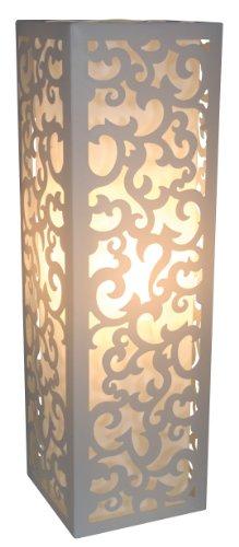 Naeve Leuchten 3005223 - Lampada da tavolo, 50 x 15,5 cm, colore: Bianco