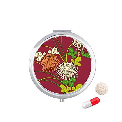 DIYthinker Schilderij Japanse Cultuur Herfst Reizen Pocket Pill Case Medicine Drug Opbergdoos Dispenser Spiegel Gift