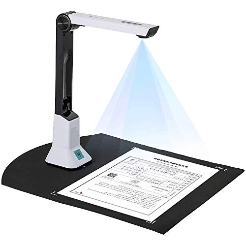 Document Camera for Teachers, High Definition Portable Scanner with OCR Text Recognition Function, Real-time Projection A4 Format for Distance Learning Online Teaching (Only Supports Windows)