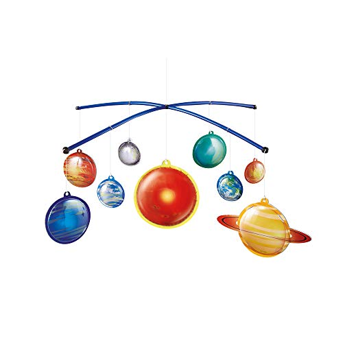 Mobile Sonnensystem Modell zum basteln leuchtend I Solarsystem Planetarium Planetensystem zum aufhängen I Bastelset für Kinder ab 8 Jahre I Geschenkideen für Jungen Mädchen zu Weihnachten