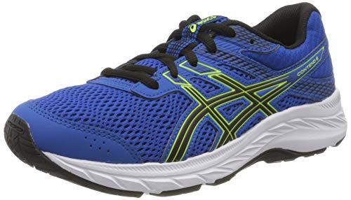 Asics Unisex-Child Contend 6 GS Running Shoe, Tuna Blue/Black, 40 EU
