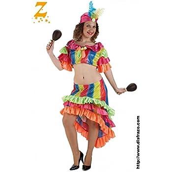 Disfraz rumbera adulto. Talla 42/44.: Amazon.es: Juguetes y juegos