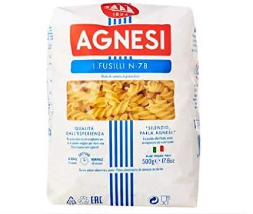 Agnesi Fusilli N.78 Pasta 500g - Fusilli è una pasta lunga e spessa a spirale che contiene bene salse di pasta ricche e grosse.