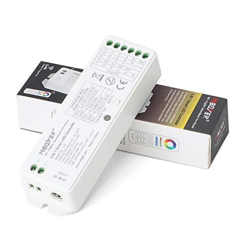 EECOO LED Controller 5 In 1 Smart LED Streifen Controller für Einfarbige/CCT/RGB/RGBW/RGB + CCT Streifen Licht 12-24V DC