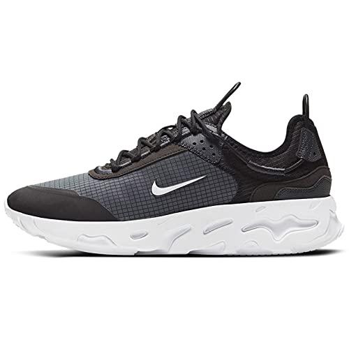 Nike React Live, Scarpe da Corsa Uomo, Black/White-Dk Smoke Grey, 41 EU