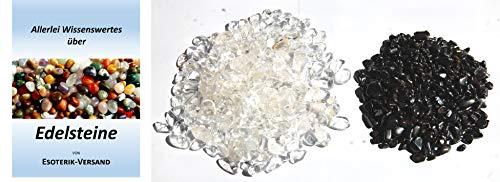 Lade- Entladesteine, Hämatit und Bergkristall mini, je 250 g, incl. 36seitige Broschüre