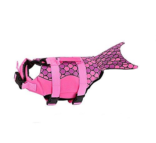 Bokning Chalecos Salvavidas para Perros Sirena y Tiburón Estilo Perro Pequeño de Perrito Mascota Chaleco Salvavidas