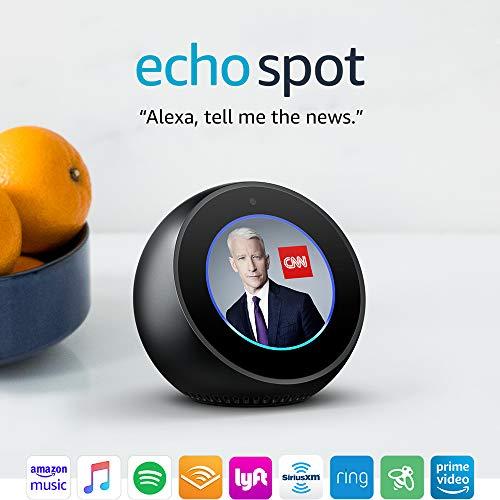 Echo Spot - Smart Alarm Clock with Alexa - Black