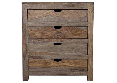MASSIVMOEBEL24.DE Palisander massiv Holz Kommode Sheesham Möbel Nature Grey #85