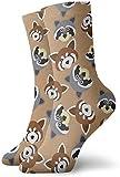 Love girl Calcetines unisex para hombre Mapache y Panda rojo Moda Novedad Calcetines deportivos secos Medias 30cm