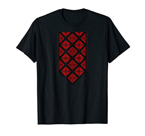 Ukrainian Embroidered Vyshyvanka Print T-Shirt Ethnic T-Shirt