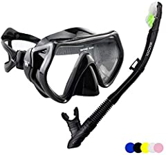ONE SIZE FITS ALL: This snorkeling set for adults comes with fully adjustable head straps and a high-grade silicon face skirt which molds to fit virtually any face shape. The ribbed design provides extra support and ensures a water-tight seal. ANTI-F...