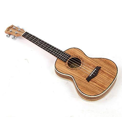 LOIKHGV Akustikgitarre 26 Zoll Full Zebra-no Thin Barrel Holzgitarre Musikinstrumente Geschlossener Knopf Ukulele Gitarre 4 Saiten, 26 Zoll
