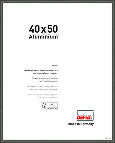 DEHA Aluminium Bilderrahmen Boston, 40x50 cm, Contrastgrau