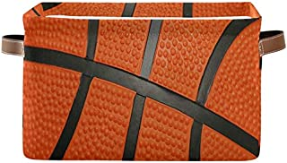 Doshine Panier de rangement pliable pour ballon de basket avec poignées Grand cube de rangement Panier à linge pour organi...