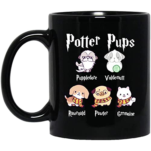 N\A Taza de café de Regalo de Harry Pawter Cute Puppy Dogs Potter Pups