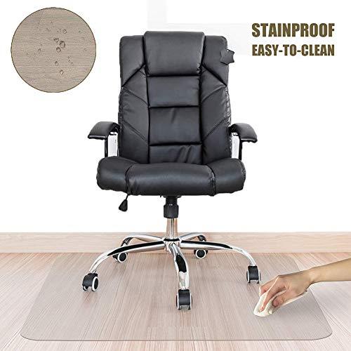 Stoelmatten Guorrui vloerbeschermingsmat geurloos bureau huishouden transparant tafelkleed beschermt de vloer helder PVC, 2 sterktes, ondersteuning van klantentevredenheid
