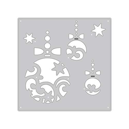 TankMR sjablonen van metaal, voor kerstballen, sjabloon, reliëf voor album, scrapbooking, papier, kaart, kunst decoratie 1 exemplaar