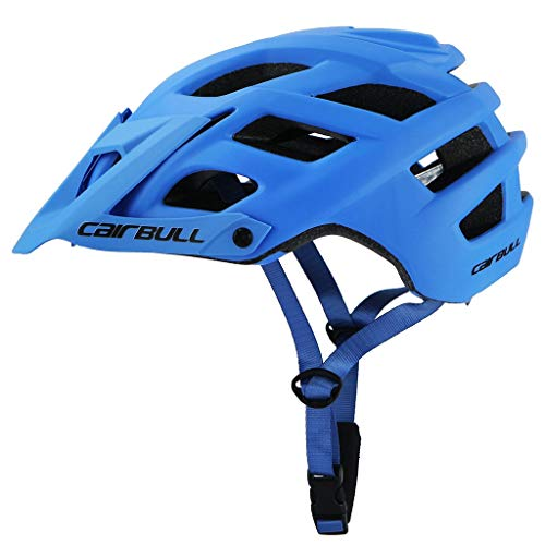 ZJB Professional Mountain Bike Helmet for Adults - CPSC&CE Certified Adjustable Size Ultralight Adult Dirt Cycling Bicycle Helmets, Safety MTB Bikes Sports Helmet for Road & Mountain (Blue)