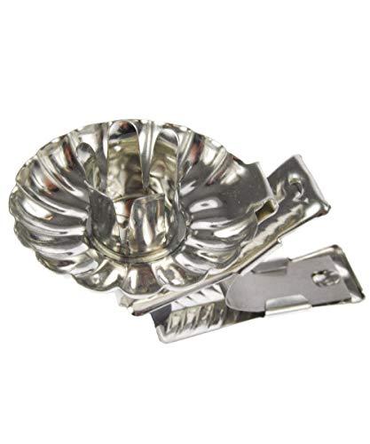 hdg Baumkerzenhalter Clip 10er Set Made in Germany, Farbe:Silber