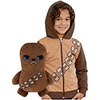 Cubcoats Star Wars Chewbacca Transforming 2-in-1 Classic Zip-Up Hoodie & Plushie (Chewie Brown)