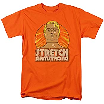 Stretch Armstrong T-Shirt Original Orange Tee Medium