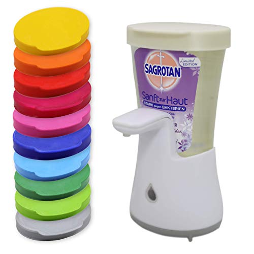 Auslaufsicherer Nachfülldeckel mit Lasche für Sagrotan No Touch Spender Deckel (Reinigung: NICHT für Spülmaschinen geeignet !)