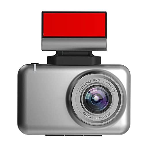 LONGRUI Cámara De Coche Dash CAM 1080P con Cámara Trasera Full HD 170 Ángulo con WDR G-Sensor, Detección De Movimiento, Grabación En Bucle, Visión Nocturna, Monitor De Aparcamiento,No