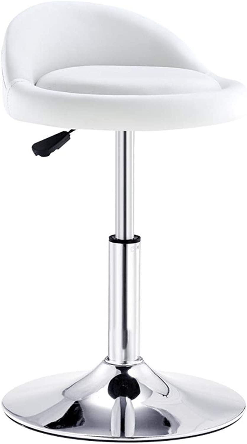 Chair Bar Stool Modern Bar Chair Lifting Swivel Chair Backrest Chair Home High Stool Assembly Stool Furniture Gift (color   White, Size   37  37  40CM)