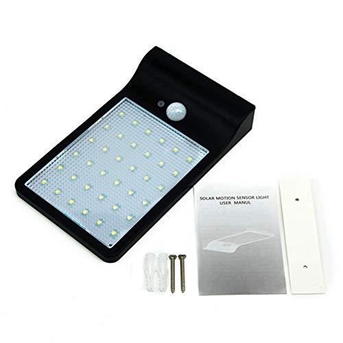 WH Lampade Solari 36 LED, Luci Solari da Esterni Impermeabile, Lampada Wireless per Giardino, Parete, Terrazzino(Luce Bianca),Black