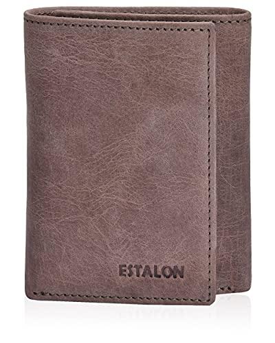 Pocket Wallets for Men - Brown Real Leather RFID Blocking Travel Trifold Wallet…