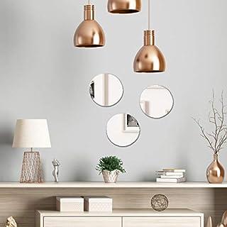 Miroirs Autocollant Ronds - Lot de 3 Miroirs Muraux Adhésifs - Diamètre 19 cm - Plexi Miroir Décoratif Rond