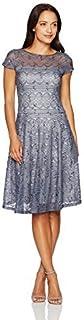 Sangria Women's Sequin Lace Dress Petite