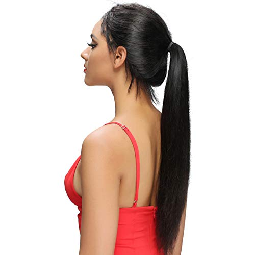 Straight 360 Lace Wigs swiss Lace Wig 130% Density Human Hair Wig with Baby Hair Soft Lace Glueless Lace Wig Natural Black 20 inch