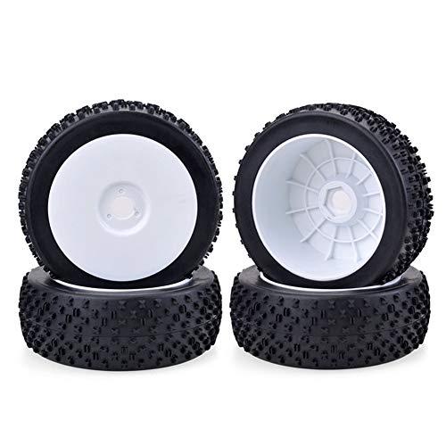 HDHUIXS Aplicable 4PCS 17mm Cubo de llanta de la Rueda X Tipo de neumático de 1/8 Off-Road del Coche de RC Durable (Color : White)