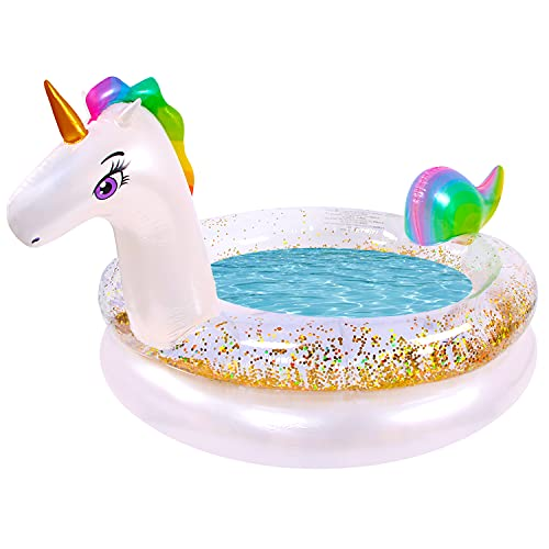 Product Image of the FUNFEED Inflatable Kiddie Pool, Unicorn Swimming Pool for Kiddie, Baby, Toddler,...