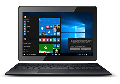 Odys Prime Win 10 2in1 25,7 cm (10,1 Zoll) Tablet-PC (Intel Atom Quadcore x5-Z8350, 2GB RAM, 32GB Flash HDD, Win 10) schwarz