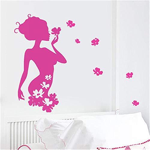 zzlfn3lv Schönheit Silhouette Poster découpé pour Le Salon, la Chambre à Coucher, Le Centre Commercial, la fenêtre en Verre, la publicité, Le Mur décoratif 42 x 79 cm
