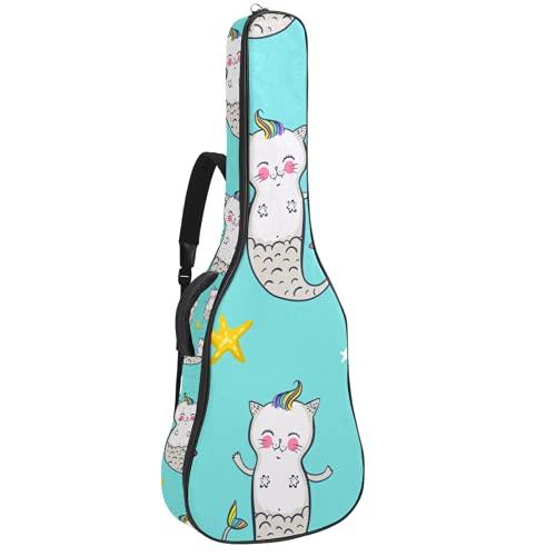 Funda de Guitarra Gato Unicornio Azul Bolso de guitarra 40 41 pulgadas...