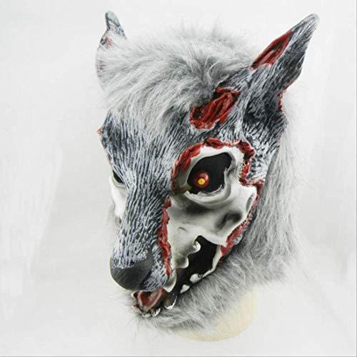 tytlmask griezelige wolf latex masker, Horror weerwolf masker, voor cosplay dier hoofd Halloween Masquerade kostuum Zombi masker crawly