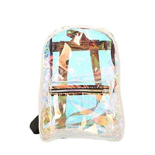 Buy Discount Sequin Glitter Backpacks Travel School Shoulder Bag Transparent Jelly Color Backpack Un...