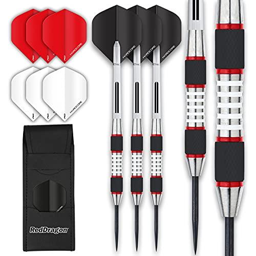 RED DRAGON Evos Tungsten Steeltip Darts Set - 28g...