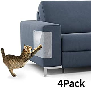 """Yong Cat Furniture Protector (Set of 4), Clear Self-Adhesive Pet Scratch Guard for Furniture,Sofa,Upholstery, Wall, Mattress, Car Seat, Door Protector Pad - (20"""" L x 8"""" W)"""