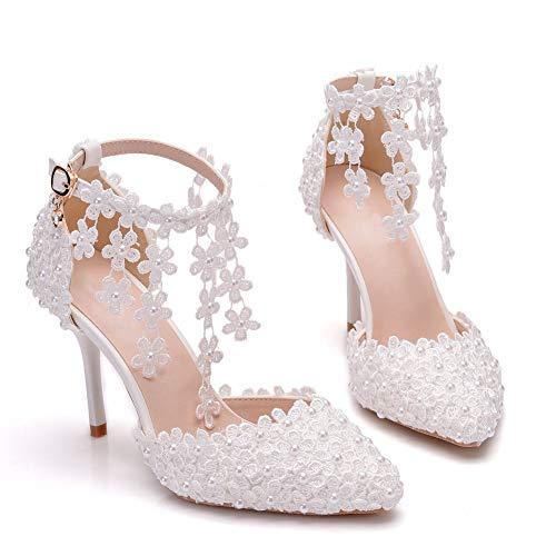 LK-HOME 9 cm Chaussures de mariée pour Femmes...
