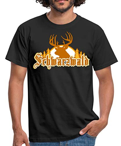 Schwarzwald Männer T-Shirt, L, Schwarz