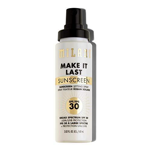Milani Make It Last Sunscreen Setting Spray with SPF30 - Makeup Primer and Setting Spray with Sunscreen, Long Lasting Makeup Finishing Spray