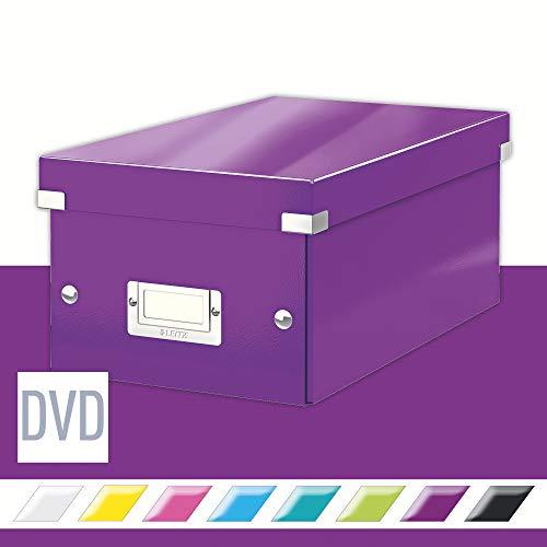 Leitz DVD Aufbewahrungsbox, Lila, Mit Deckel, Click & Store, 60420062
