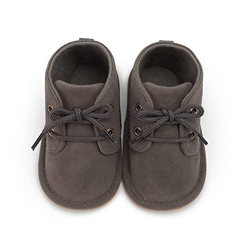 FURONGWANG6777BB Baby Girl Boys Classical Algodón No resbalón Sole Sole Sole Boots sobre Cuna Snowdler Zapatos Primeros Caminantes (Color : Gray, Size : 12-18 Months)